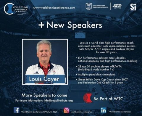 WORLD TENNIS CONFERENCE by GPTCA/SI – New speaker on the block – Louis Cayer