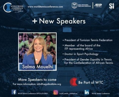 WORLD TENNIS CONFERENCE by GPTCA/SI 2021 – New speaker on the block – Salma Mouelhi