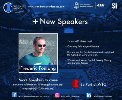 WORLD TENNIS CONFERENCE by GPTCA/SI 2021 – New speaker on the block – Frederic Fontang