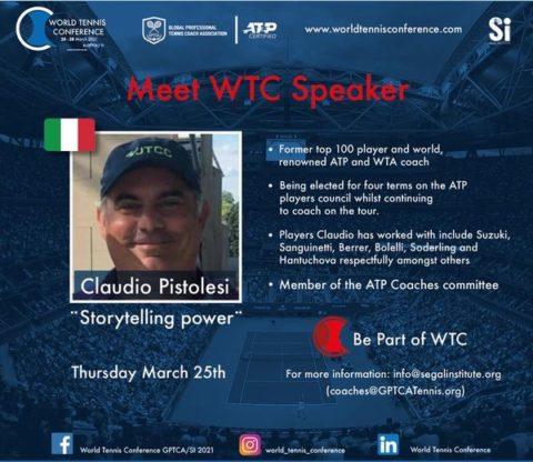 WORLD TENNIS CONFERENCE by GPTCA/SI 2021 – Meet the speaker Claudio Pistolesi