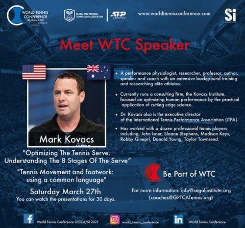 "WORLD TENNIS CONFERENCE by GPTCA/SI 2021 – ""Meet the speaker"" Mark Kovacs"