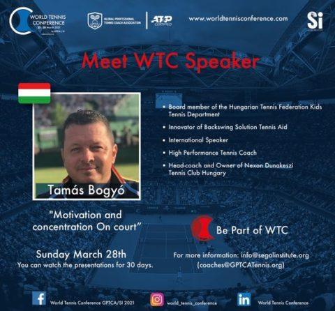 """WORLD TENNIS CONFERENCE by GPTCA/SI 2021 – """"Meet the speaker"""" Tomas Bogyo"""