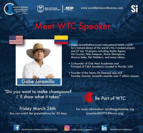 "WORLD TENNIS CONFERENCE by GPTCA/SI 2021 – ""Meet the speaker"" Gabe Jaramillo"