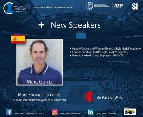 "WORLD TENNIS CONFERENCE by GPTCA/SI 2021 – ""New speaker on the block"" Marc Gorriz"