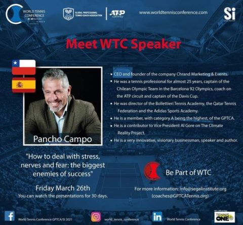 """WORLD TENNIS CONFERENCE by GPTCA/SI 2021 – """"Meet the speaker"""" Pancho Campo"""