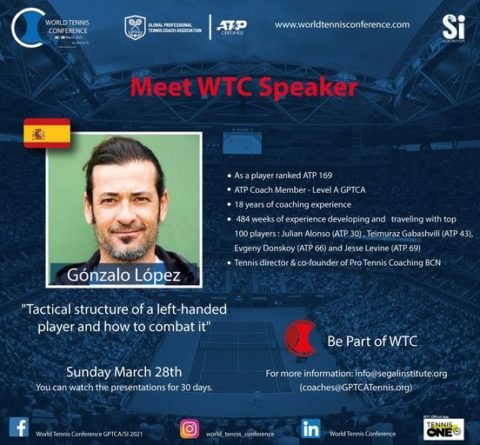 """WORLD TENNIS CONFERENCE by GPTCA/SI 2021 – """"Meet the speaker"""" Gonzalo Lopez"""