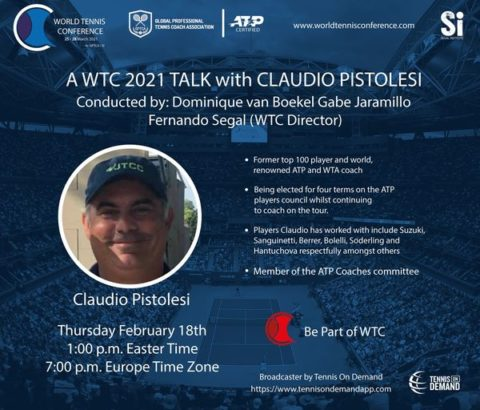 WORLD TENNIS CONFERENCE by GPTCA/SI – WTC Tennis Talk with Claudio Pistolesi