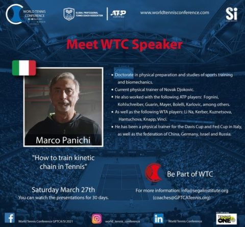 """WORLD TENNIS CONFERENCE by GPTCA/SI 2021 – """"Meet the speaker"""" Marco Panichi"""