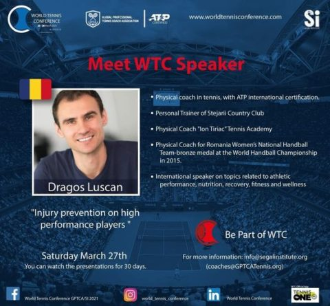 """WORLD TENNIS CONFERENCE by GPTCA/SI 2021 – """"Meet the speaker"""" Dragos Luscan"""