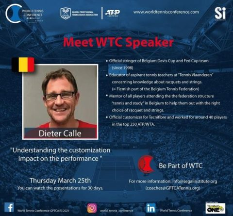 """WORLD TENNIS CONFERENCE by GPTCA/SI 2021 – """"Meet the speaker"""" Dieter Calle"""