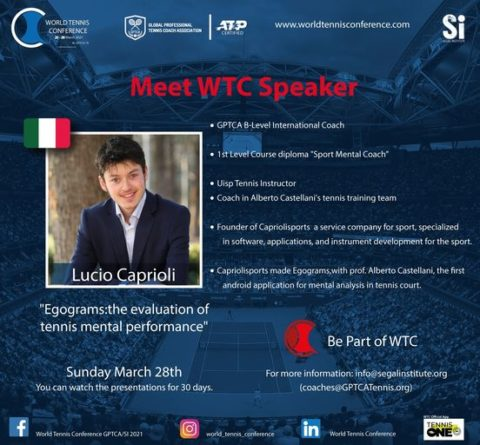 """WORLD TENNIS CONFERENCE by GPTCA/SI 2021 – """"Meet the speaker"""" Lucio Caprioli"""