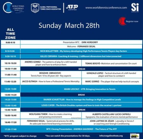 WORLD TENNIS CONFERENCE by GPTCA/SI 2021